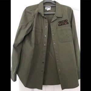 Vans army green military type jacket